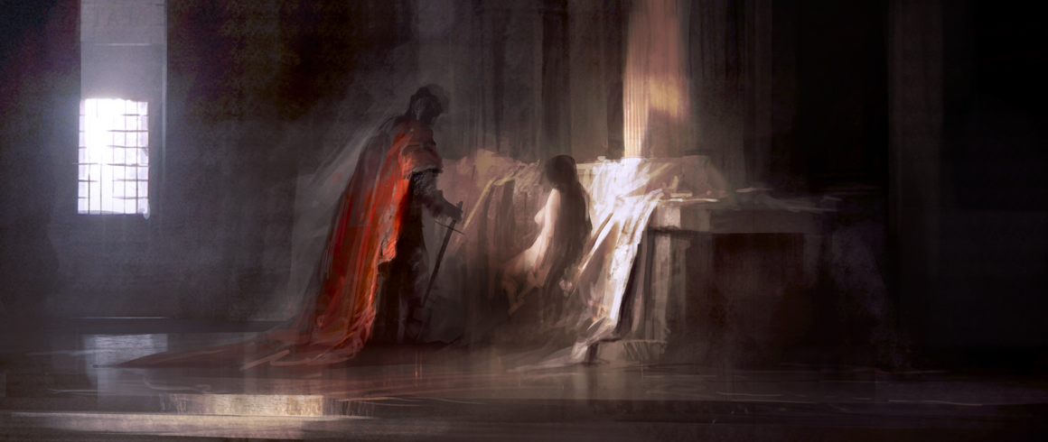 Knight at the altar by leventep
