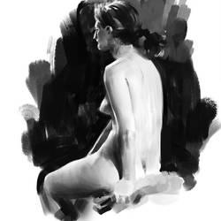 30 min pose life drawing