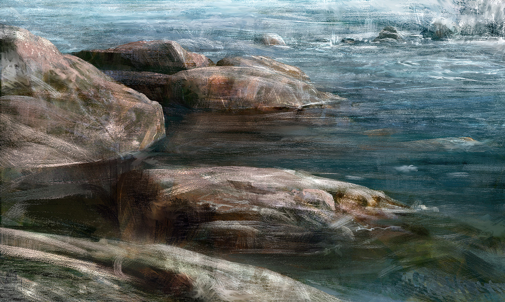 rocks at the river by leventep