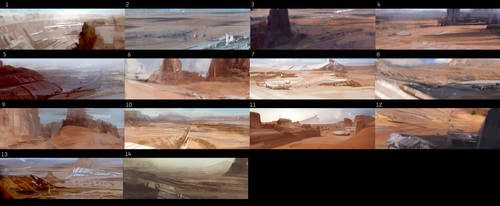 from sketch to mattepainting lecture by leventep