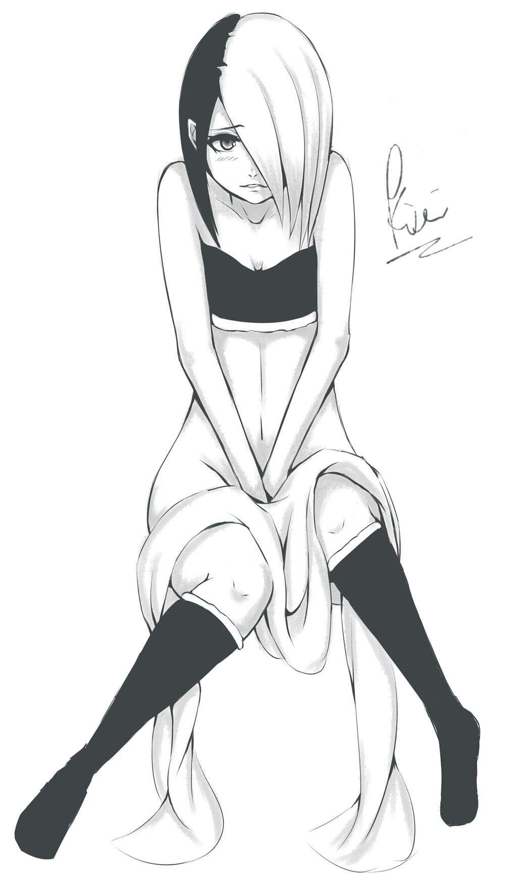 Sexy manga girl by kiritzugu