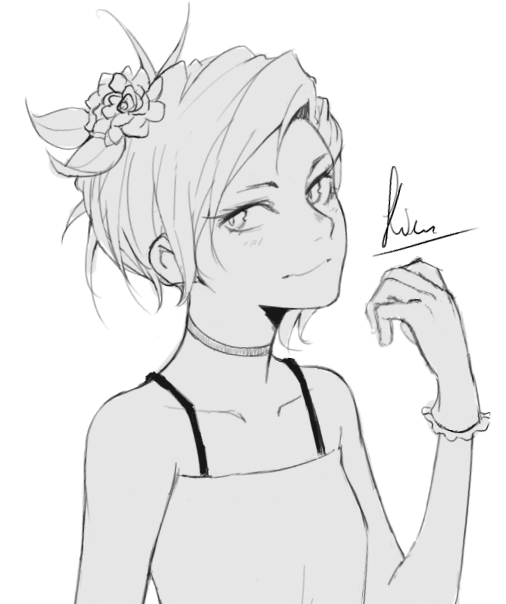 Sketchy girl by Kiritzugu
