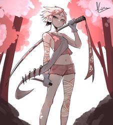 Ninja girl by Kiritzugu