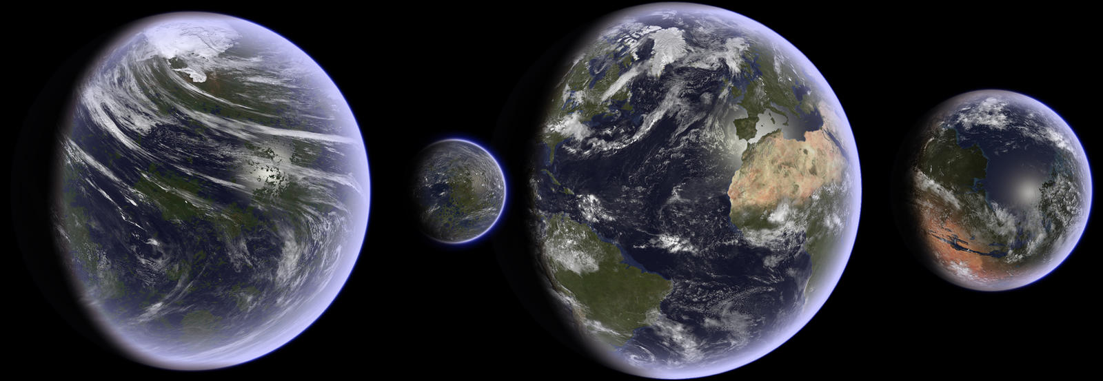 terraformed solar system with labels - photo #35