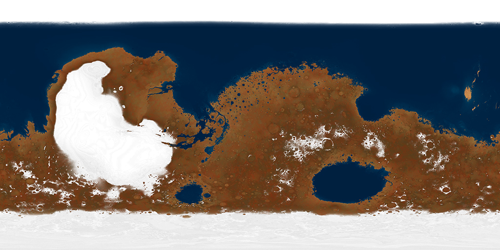 Ancient Mars Map by Ittiz