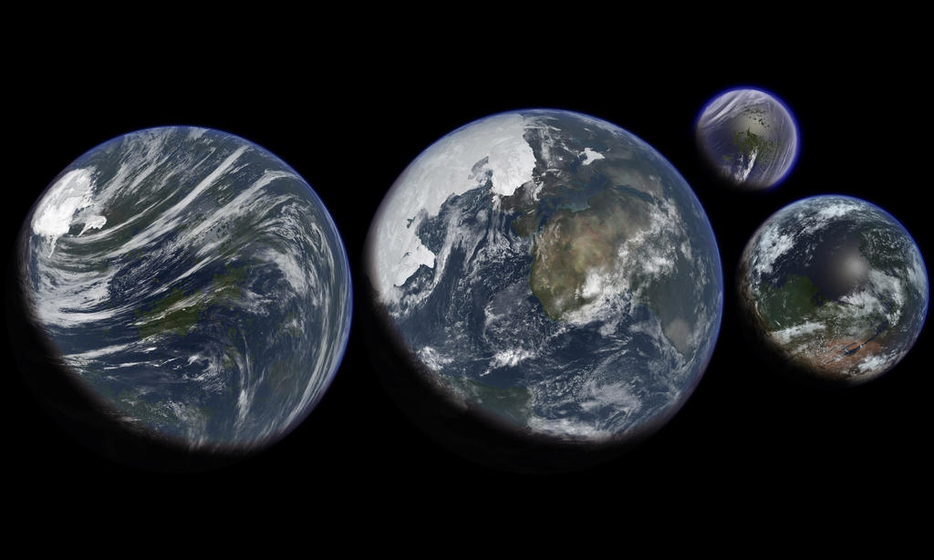 terraformed solar system with labels - photo #2