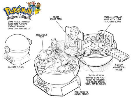 Pokemon Micro Mini Playset : Pokemart Playset