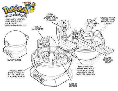 Pokemon Micro Mini Playset : Gym Playset