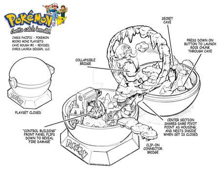 Pokemon Micro Mini Playset : Cave Playset