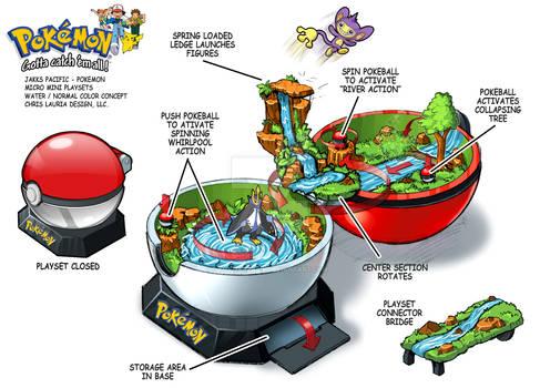 Pokemon Micro Mini Playset : Water_Normal