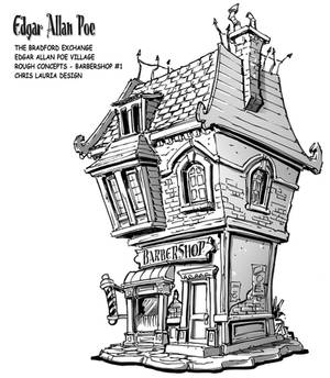 Edgar Allan Poe Village : Barbershop