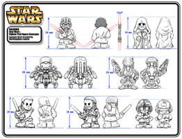 Star Wars : Fighter Pod Figure Designs