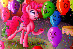 Commission - Pinkie's Party by Happy-go-Creative
