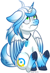 Chibi Pony YCH - Sudden Braking Skyduster by Happy-go-Creative