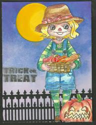 1.Female Scarecrow Card