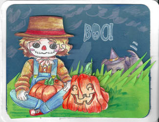 2.Male Scarecrow Card
