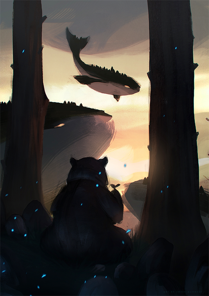 dreamy bear by sheer-madness