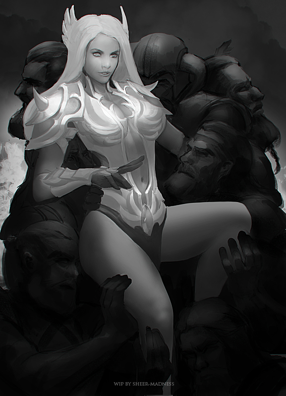 Valkyrie and Vikings wip 2 by sheer-madness