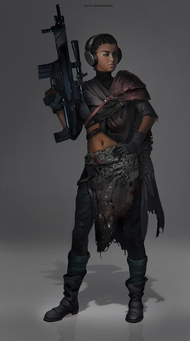post-apocalyptic woman 1 by sheer-madness