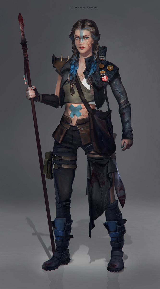 post-apocalyptic woman 2 by sheer-madness