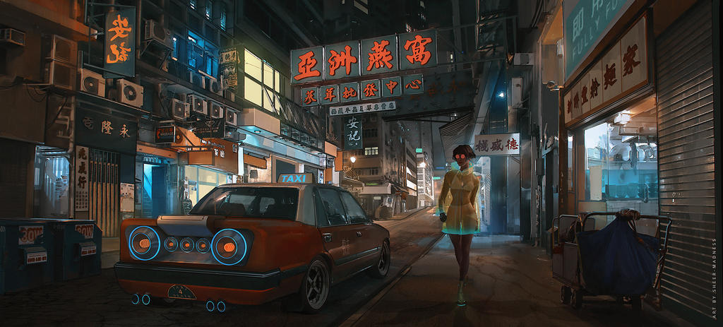 Cyber Hong Kong. by sheer-madness