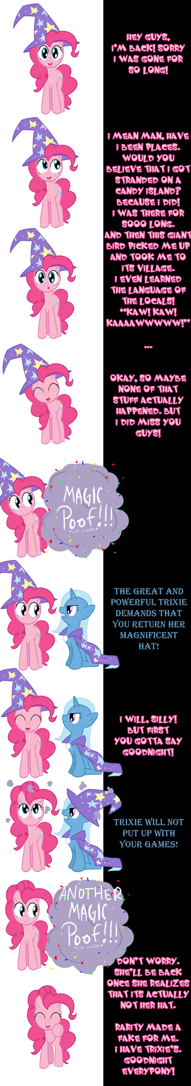 Pinkie and Trixie say Goodnight by Undead-Niklos