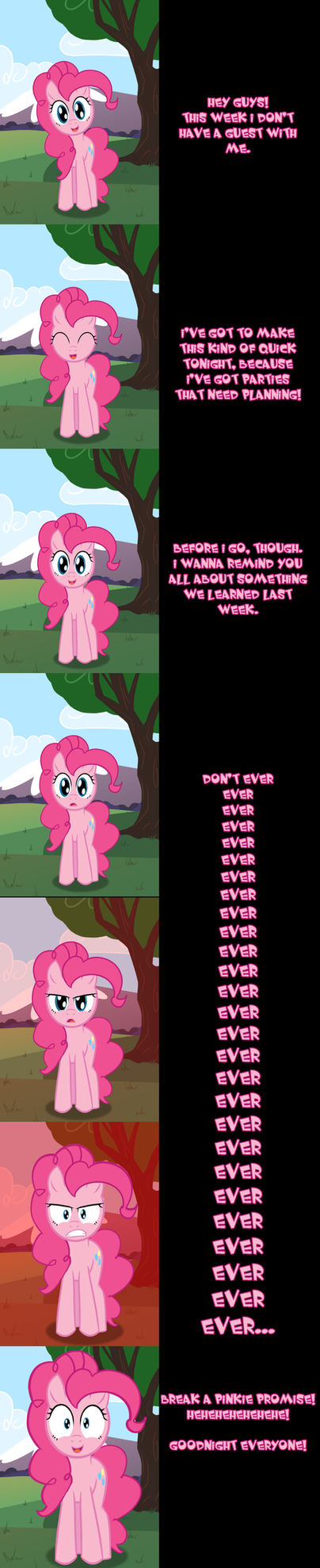 Pinkie Says KEEP YOUR PROMISES by Undead-Niklos