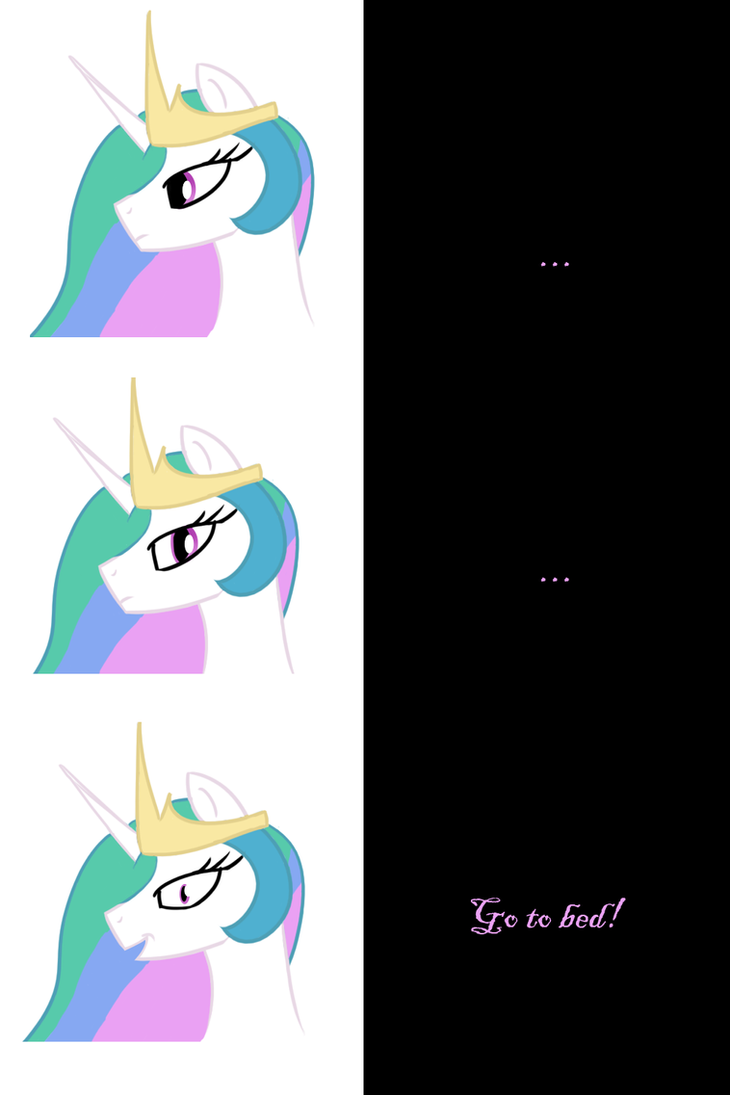 Princess Celestia says Goodnight by Undead-Niklos