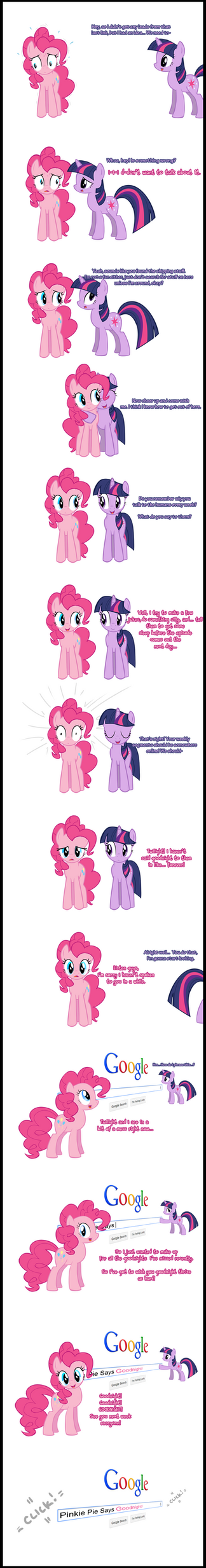 Pinkie Pie (finally) says Goodnight! by Undead-Niklos