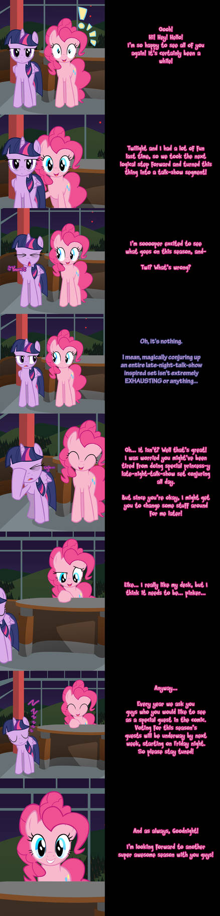 Pinkie Says Goodnight - New Things! by Undead-Niklos on