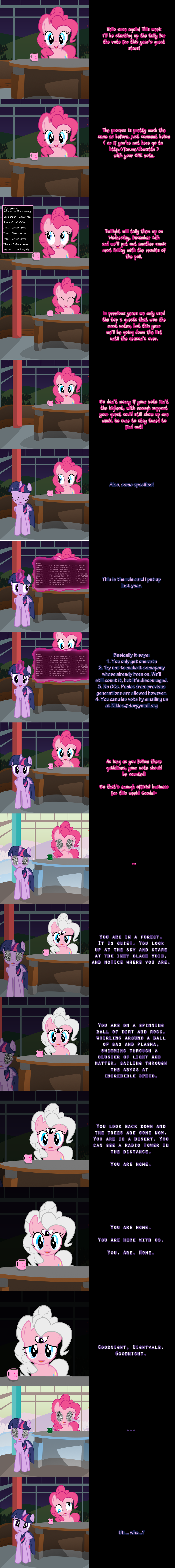Pinkie Says Goodnight - Time to Vote! by Undead-Niklos