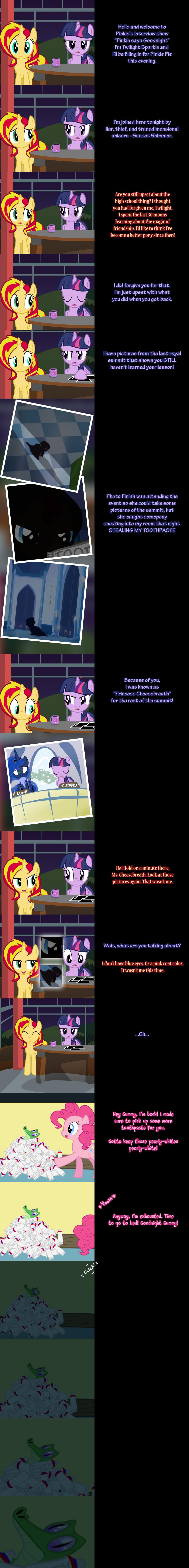 Pinkie Says Goodnight - Twilight Sunset