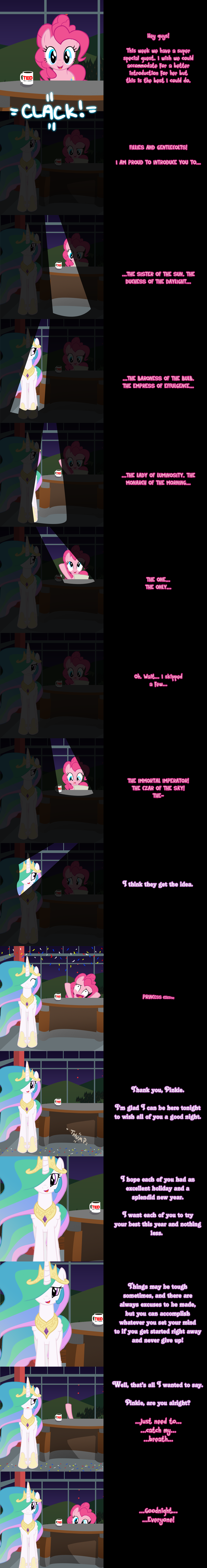 Pinkie Says Goodnight - Princess Presentation by Undead-Niklos