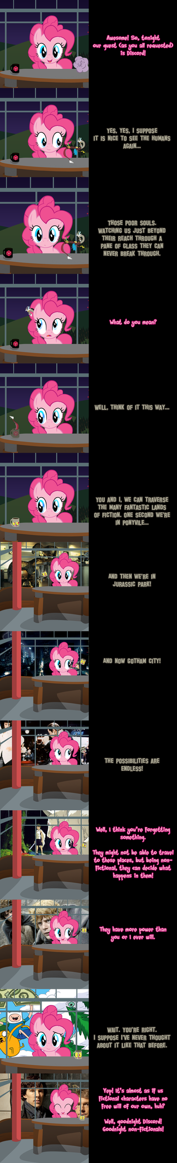 Pinkie Says Goodnight - What Fourth Wall? by Undead-Niklos