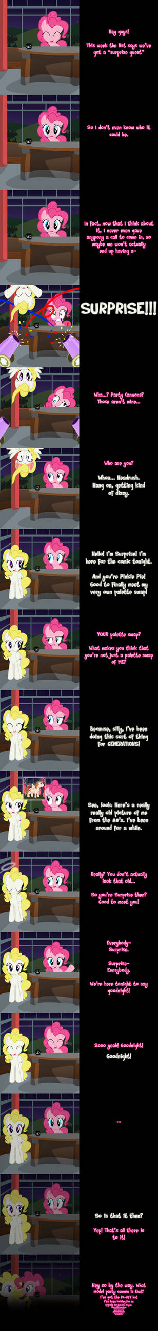 Pinkie Says Goodnight - Surprise Guest