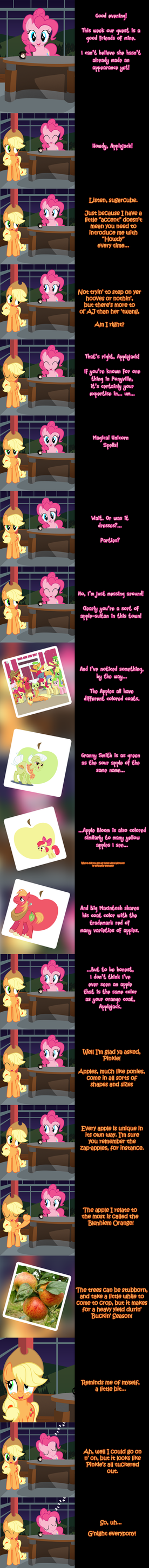 Pinkie Says Goodnight - Applejack's Apple, Jack. by Undead-Niklos