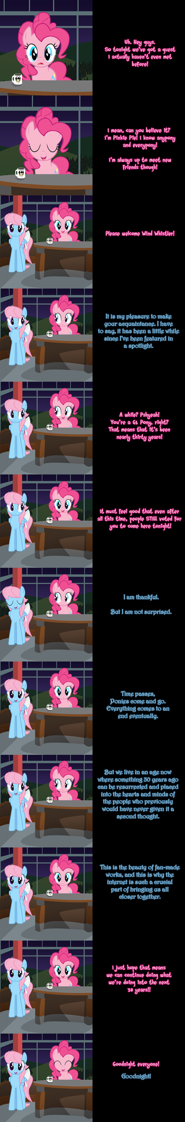 Pinkie Says Goodnight - Wise Wind Whistler by Undead-Niklos