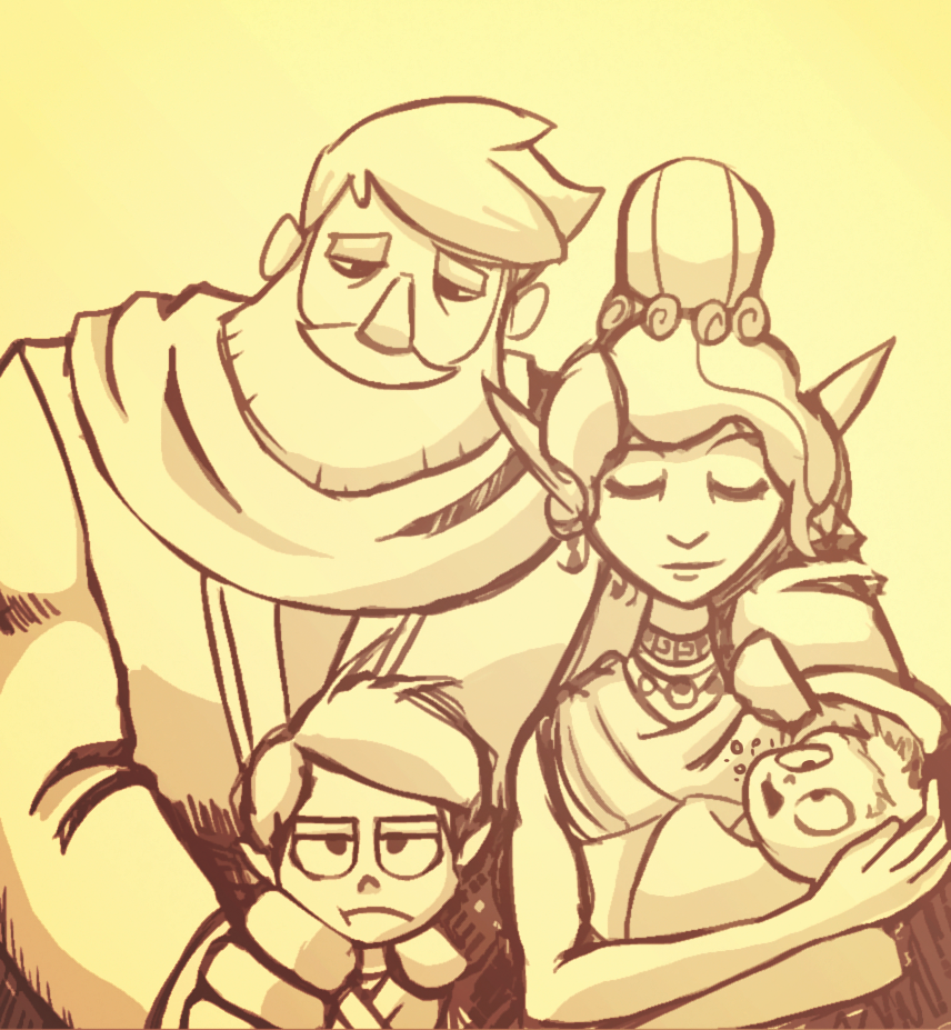 Dungeons and Dragons - Romani Family Portait by Undead-Niklos