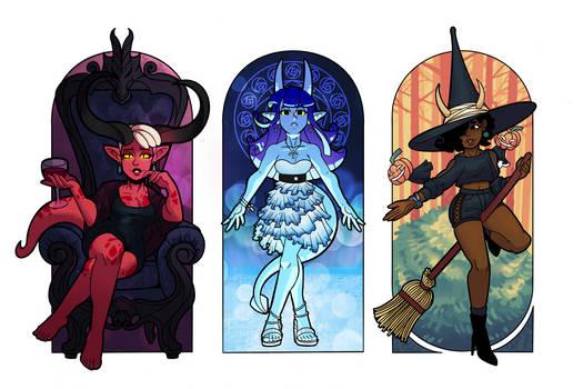 Triptych - Azira, Noelle, Hazel