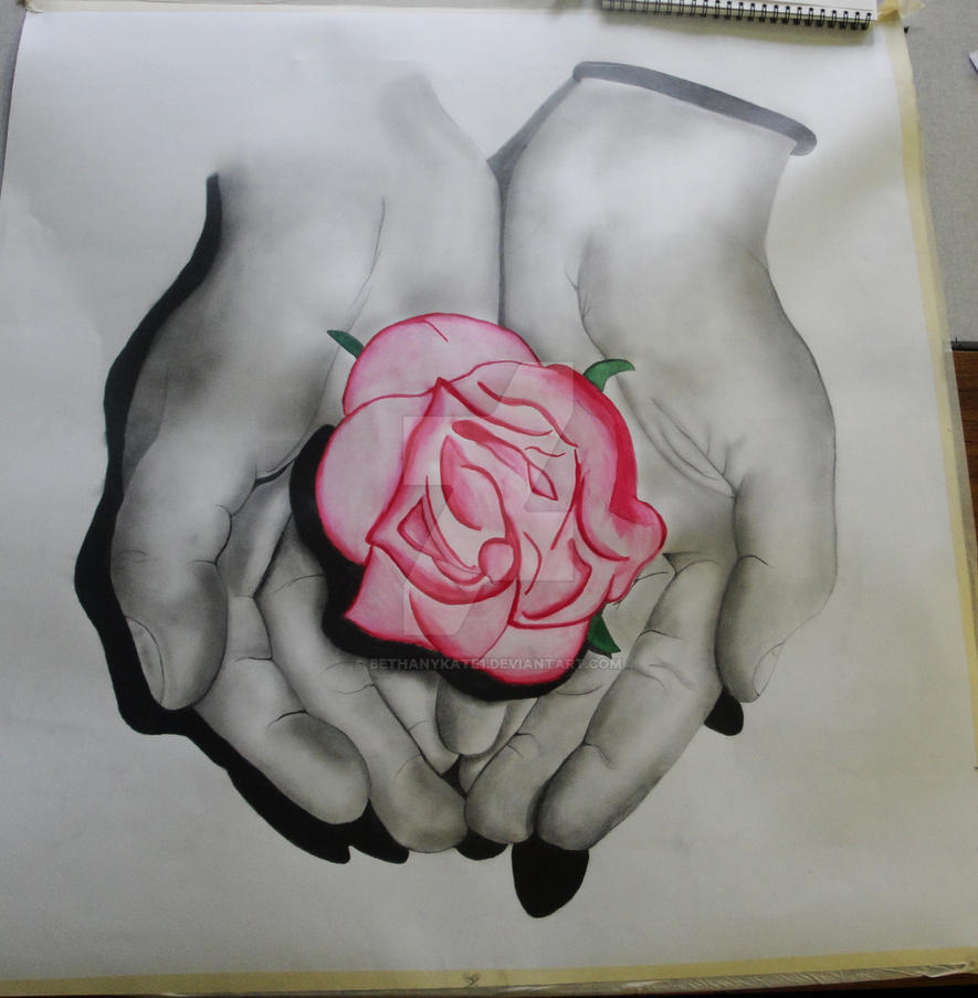 Holding A Rose By Bethanykate1 On Deviantart