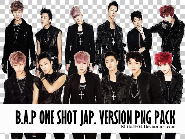 B.A.P One Shot Japanese Version PNG Pack by Shifa1204