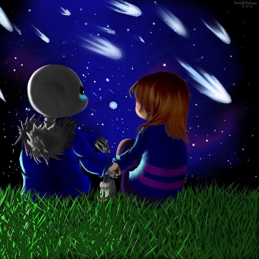 Shooting Stars Of Love (Undertale:SansXFrisk) by ShardsOfAWhisper