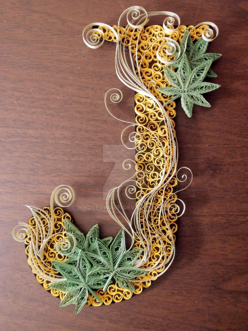 Paper quilling letter j by wholedwarf on deviantart - Paper quilling art wallpapers ...