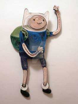 Paper Quilling - Adventure Time - Finn the Human