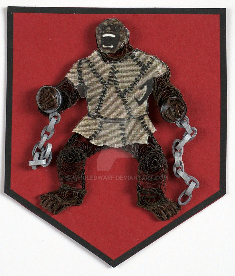 Game Of Thrones Quilling Sigil House Umber By Wholedwarf