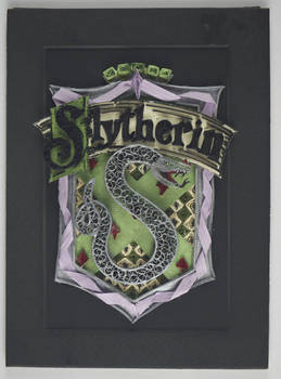 Paper Quilling Harry Potter House Crest-Slytherin