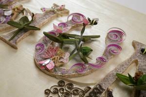 Paper Quilling Trilliums Display Art - U