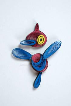Pokemon Paper Quilling Art 474 Porygon-Z