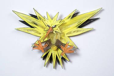 Pokemon Paper Quilling Art 145 Zapdos
