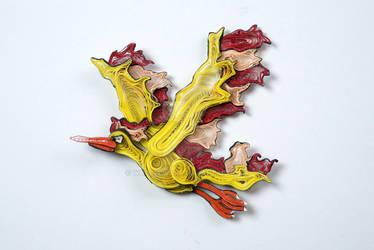 Pokemon Paper Quilling Art 146 Moltres